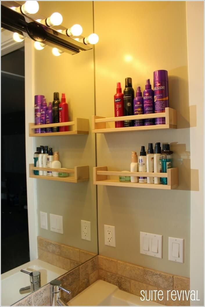 Ιδέες για να δημιουργήστε χώρο αποθήκευσης στον τοίχο του μπάνιου σας8