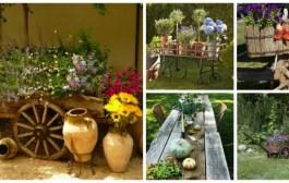 Ρουστίκ διακόσμηση κήπου με φυσική γοητεία - 60 ιδέες έμπνευσης