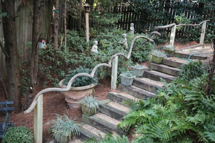 Ρουστίκ διακόσμηση κήπου4