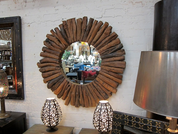 Diy ιδέες καθρέφτη από θαλασσόξυλα (29)