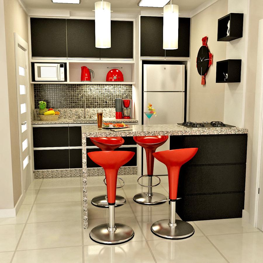 Iδέες σχεδιασμού μικρής κουζίνας49