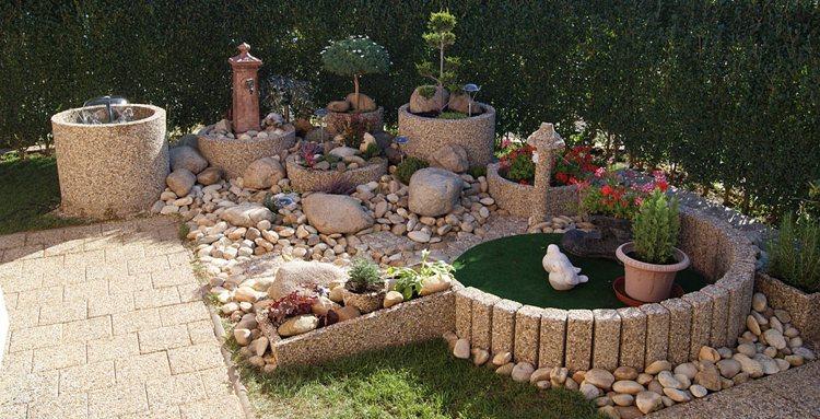 Μπετόν ζαρντινιέρες κήπου22
