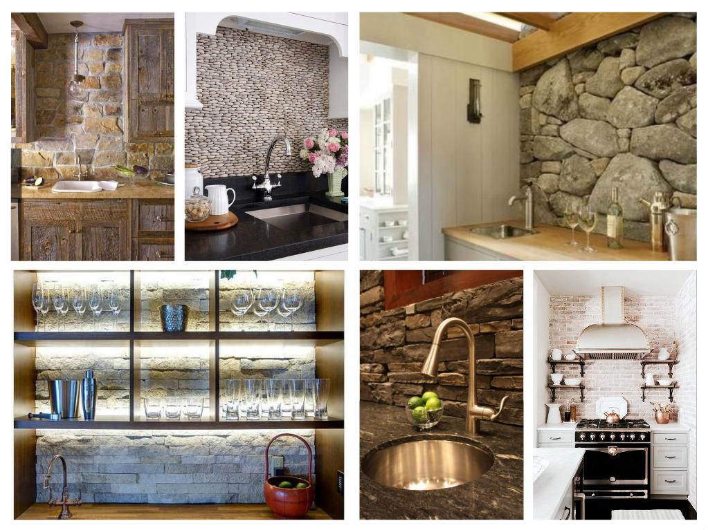 53 Απίθανες ιδέες με πέτρες, τούβλα και βότσαλα για τοίχους κουζίνας