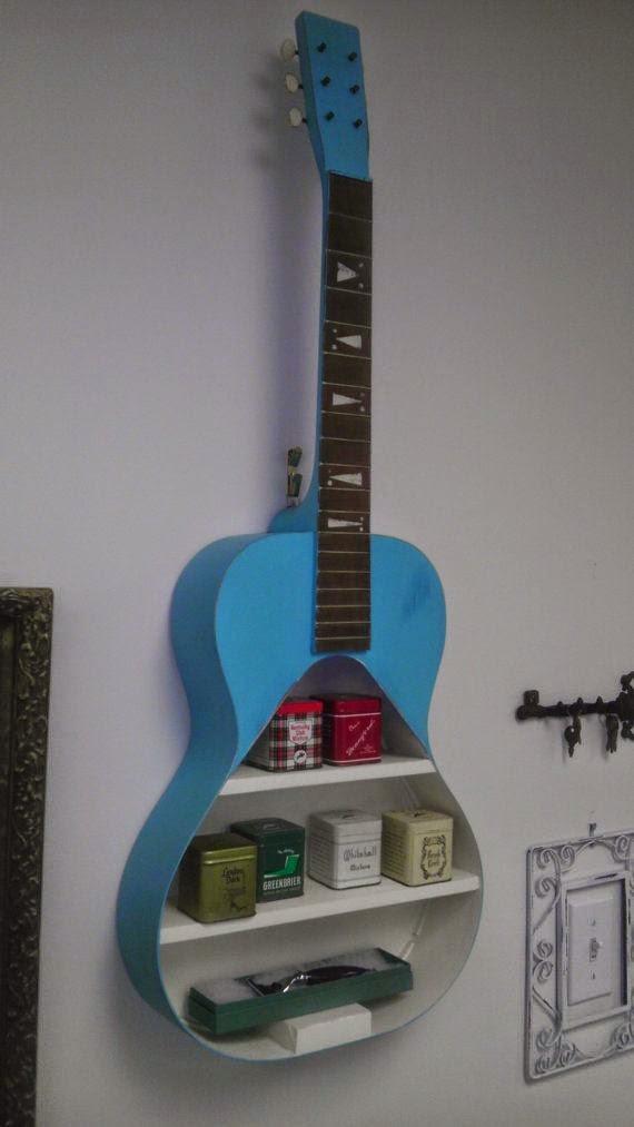 παλιές κιθάρες στη διακόσμηση του σπιτιού10