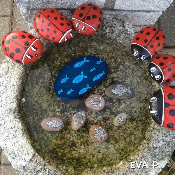 DIY ιδέες διακόσμησης με βαμμένες πέτρες και βότσαλα5