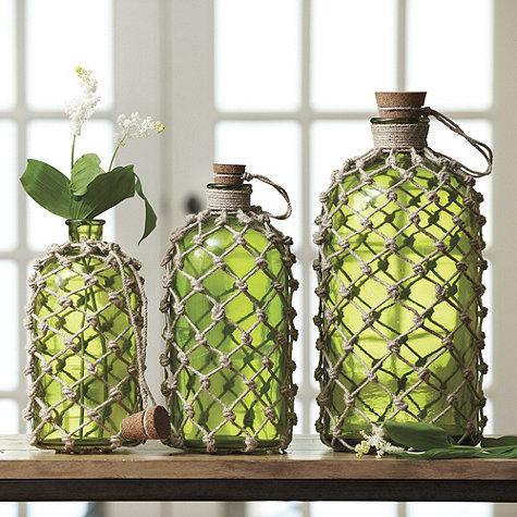 Υπέροχα διακοσμητικά μπουκάλια με κόμπους από σπάγγο - ένα εύκολο Diy να δοκιμάσετε