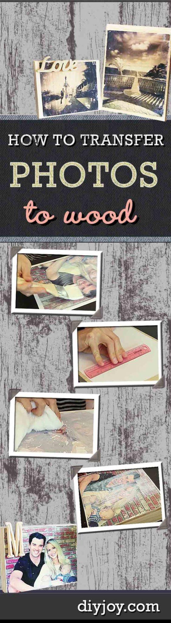 DIY ιδέες για να μεταφέρετε φωτογραφίες σε ξύλο1