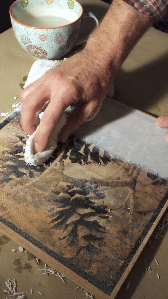 DIY ιδέες για να μεταφέρετε φωτογραφίες σε ξύλο12