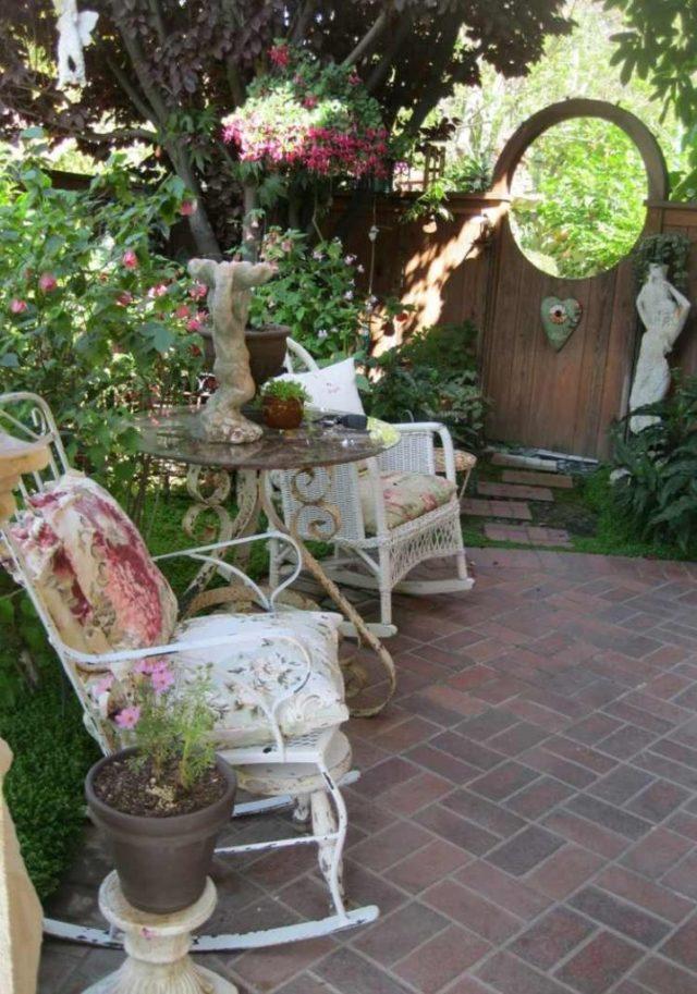 διακόσμηση κήπου Shabby Chic1
