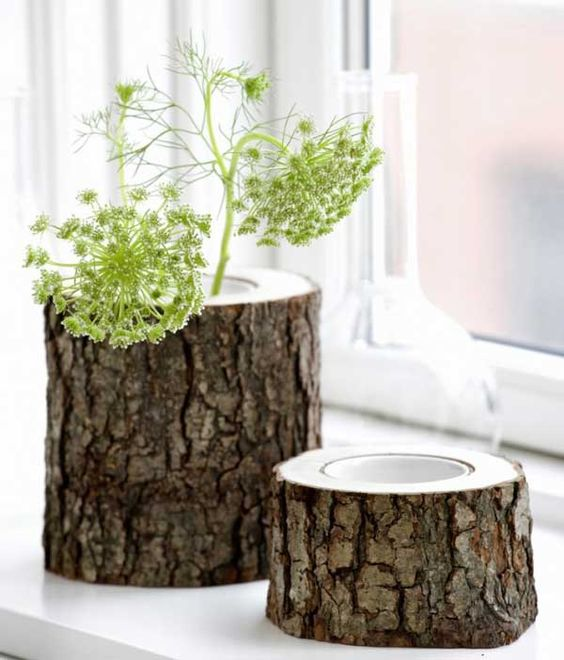 DIY ιδέες διακοσμήσης από κούτσουρα14