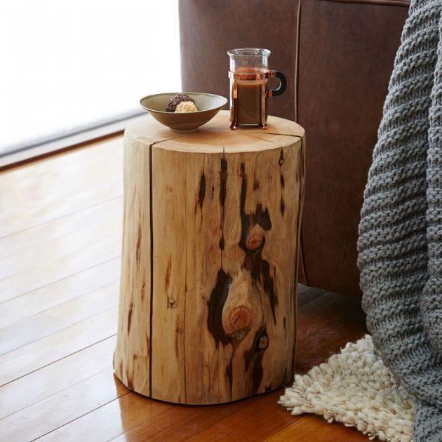 DIY ιδέες διακοσμήσης από κούτσουρα5