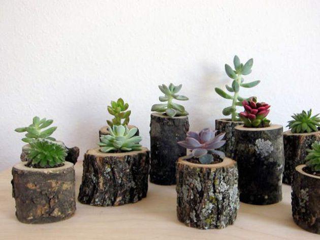 DIY ιδέες διακοσμήσης από κούτσουρα8