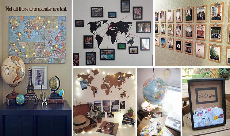 Υπέροχες DIY ταξιδιωτικά εμπνευσμένες Decor Ιδέες για να φέρετε το αίσθημα της μανίας των ταξιδιών στο σπίτι σας