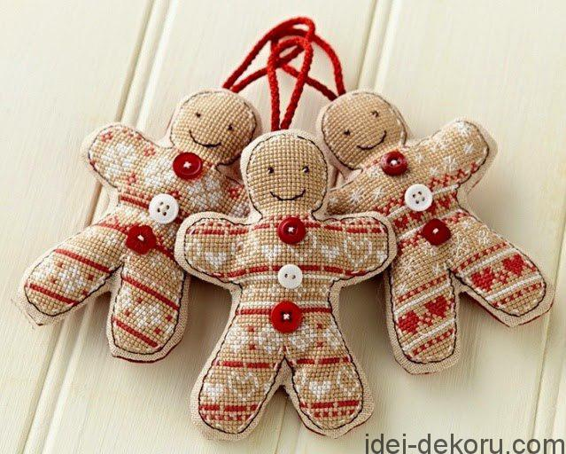Χριστουγεννιάτικα στολίδια από λινάτσα30