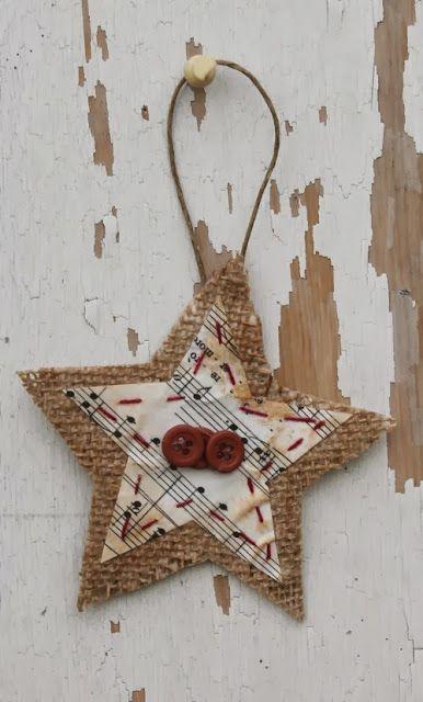 Χριστουγεννιάτικα στολίδια από λινάτσα41