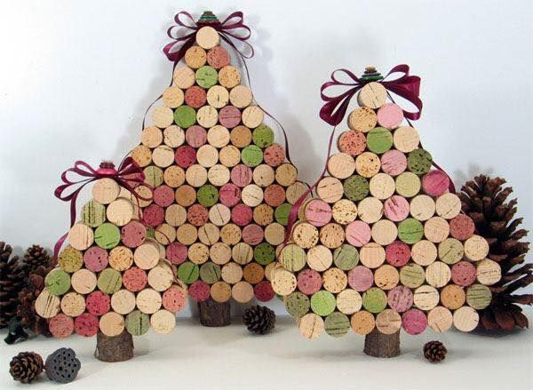 Χριστουγεννιάτικες διακοσμήσεις από πώματα φελλού12