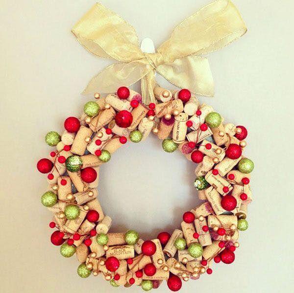 Χριστουγεννιάτικες διακοσμήσεις από πώματα φελλού13