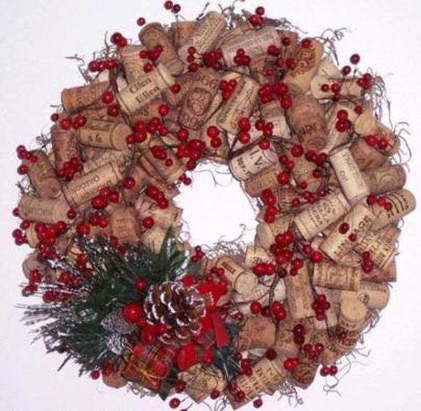 Χριστουγεννιάτικες διακοσμήσεις από πώματα φελλού2