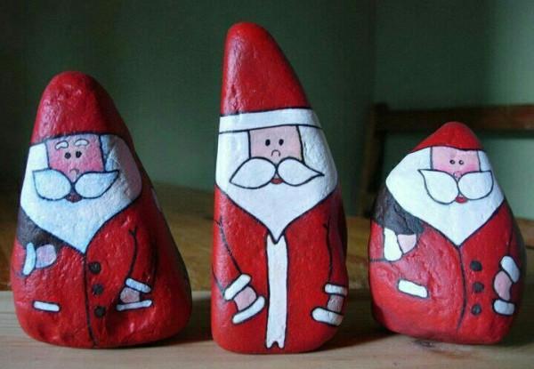 Χριστουγεννιάτικη ζωγραφική σε πέτρες και βότσαλα64
