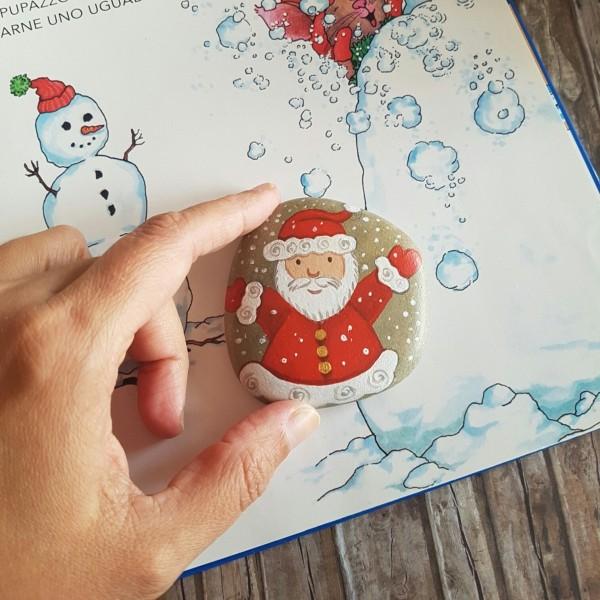 Χριστουγεννιάτικη ζωγραφική σε πέτρες και βότσαλα73