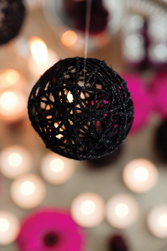 SOUTH AFRICA - December 2010: Close up of a glitter bauble. Feature text available. (Photo by Gallo Images / Ideas)