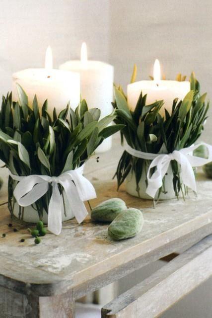 Χριστουγεννιάτικη διακόσμηση με κεριά16