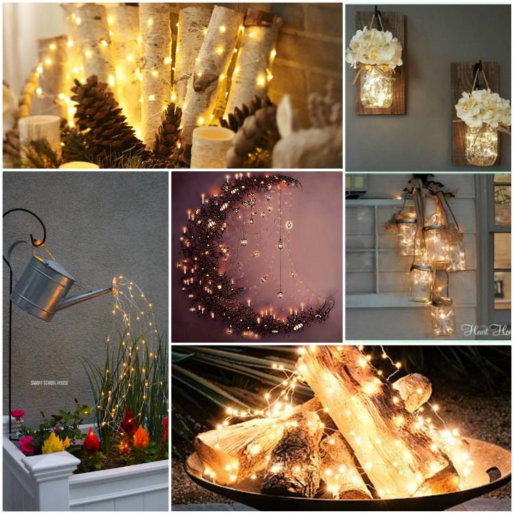 Παραμυθένια νεράιδοδιακόσμηση με φωτάκια για όλες τις εποχές και τα Χριστούγεννα