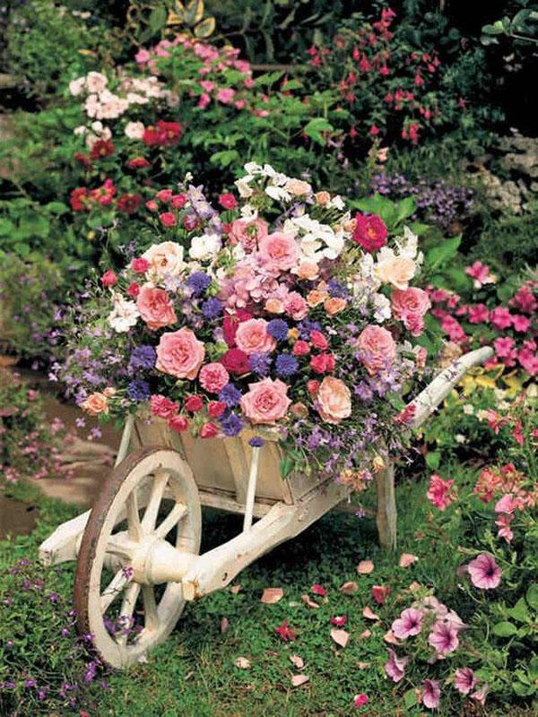 Shabby Chic ιδέες κήπου15