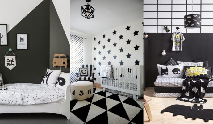 Απίθανα και ιδιαίτερα παιδικά δωμάτια σε μαύρο και άσπρο