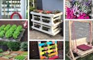 Φοβερές DIY ιδέες με παλέτες για τον κήπο