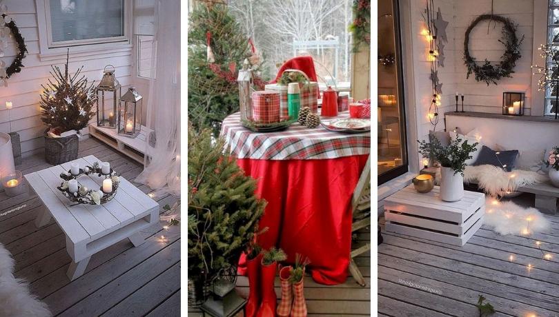 Οι πιο όμορφες Χριστουγεννιάτικες ιδέες για να διακοσμήσετε το μπαλκονάκι σας