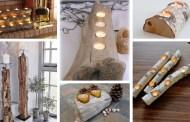 Φέρτε την πιο ζεστή ατμόσφαιρα στο σπίτι με τα πιο υπέροχα DIY ρουστίκ κηροπήγια από ξύλο