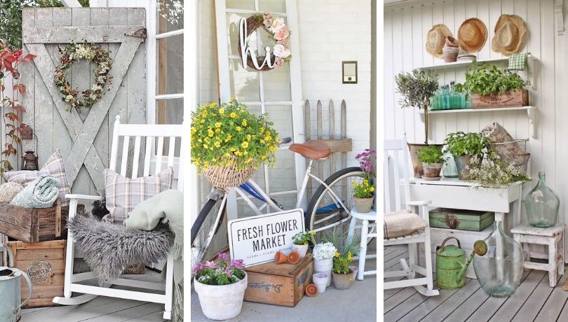 30+ Φανταστικές ρομαντικές ιδέες χωριάτικης διακόσμησης για την βεράντα και την αυλή σας