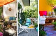 45 Δημιουργικές αλλά απλές και πολύχρωμες ιδέες διακόσμησης για να απολαύσετε το μπαλκονάκι σας αυτό το καλοκαίρι