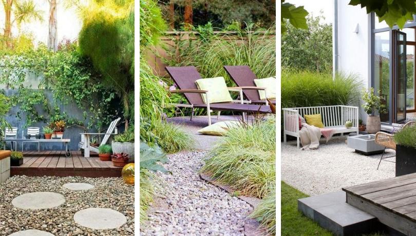 Συμβουλές και πολλές ιδέες για έναν ελκυστικά φανταστικό σχεδιασμό κήπου με χαλίκι