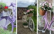 DIY γλάστρες από παλιά ποδήλατα που θα απογειώσουν τον κήπο ή την αυλή σας