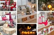 Χριστουγεννιάτικες διακοσμήσεις για το τραπεζάκι του σαλονιού
