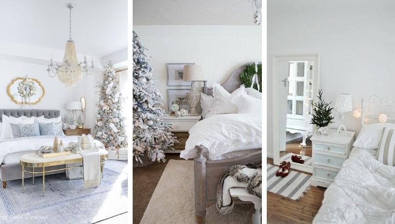 Ζεστή και άνετη διακόσμηση κρεβατοκάμαρας για τα Χριστούγεννα - 40 θεαματικές ιδέες