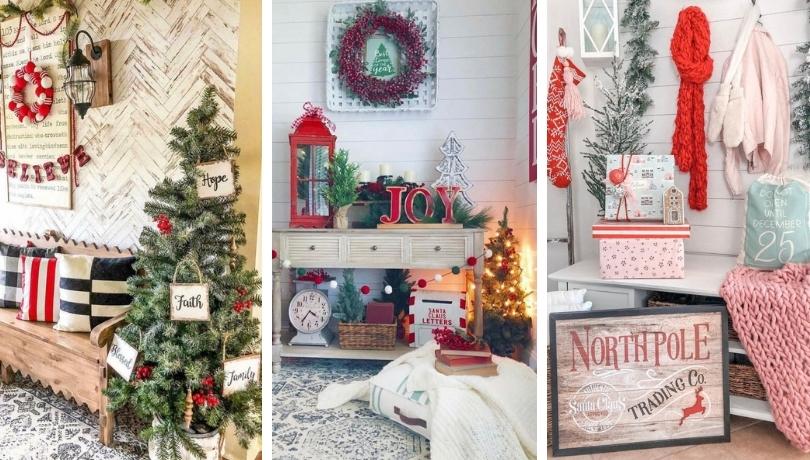 Εντυπωσιακές Χριστουγεννιάτικες ιδέες διακόσμησης εισόδου που μπορείτε να δοκιμάσετε το 2020