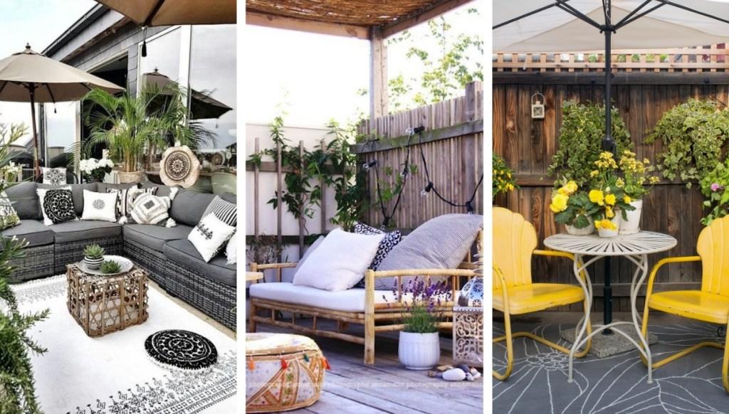 Μικρή βεράντα, αυλή, αίθριο και διαφορετικοί, όμορφοι τρόποι να τα σχεδιάσετε και διακοσμήσετε