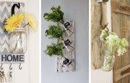 32 Γοητευτικές DIY ιδέες για διακόσμηση τοίχου με γυάλινα βαζάκια