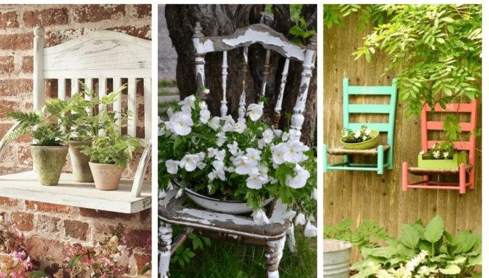 20 Δημιουργικές ιδέες γλαστρών από ανακύκλωση παλιών καρεκλών για την αυλή και τον κήπο
