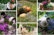Πήλινες κανάτες και αμφορείς στη διακόσμηση των παρτεριών του κήπου σας: 45 πρωτότυπες ιδέες