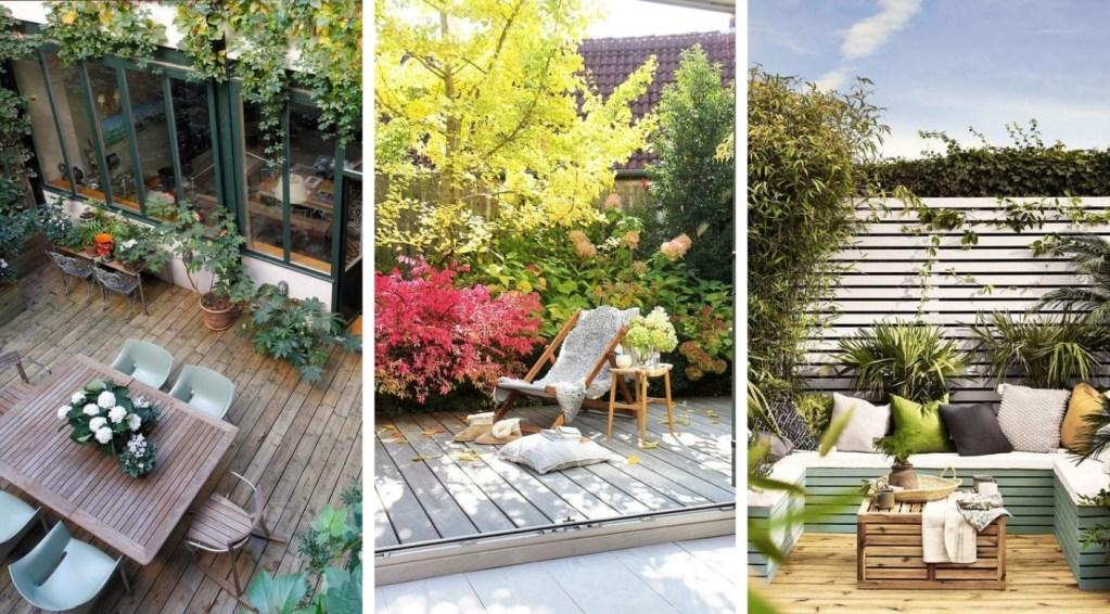 20 Εμπνευσμένες ιδέες μικρών  ξύλινων deck διακόσμηση των εξωτερικών σας χώρων