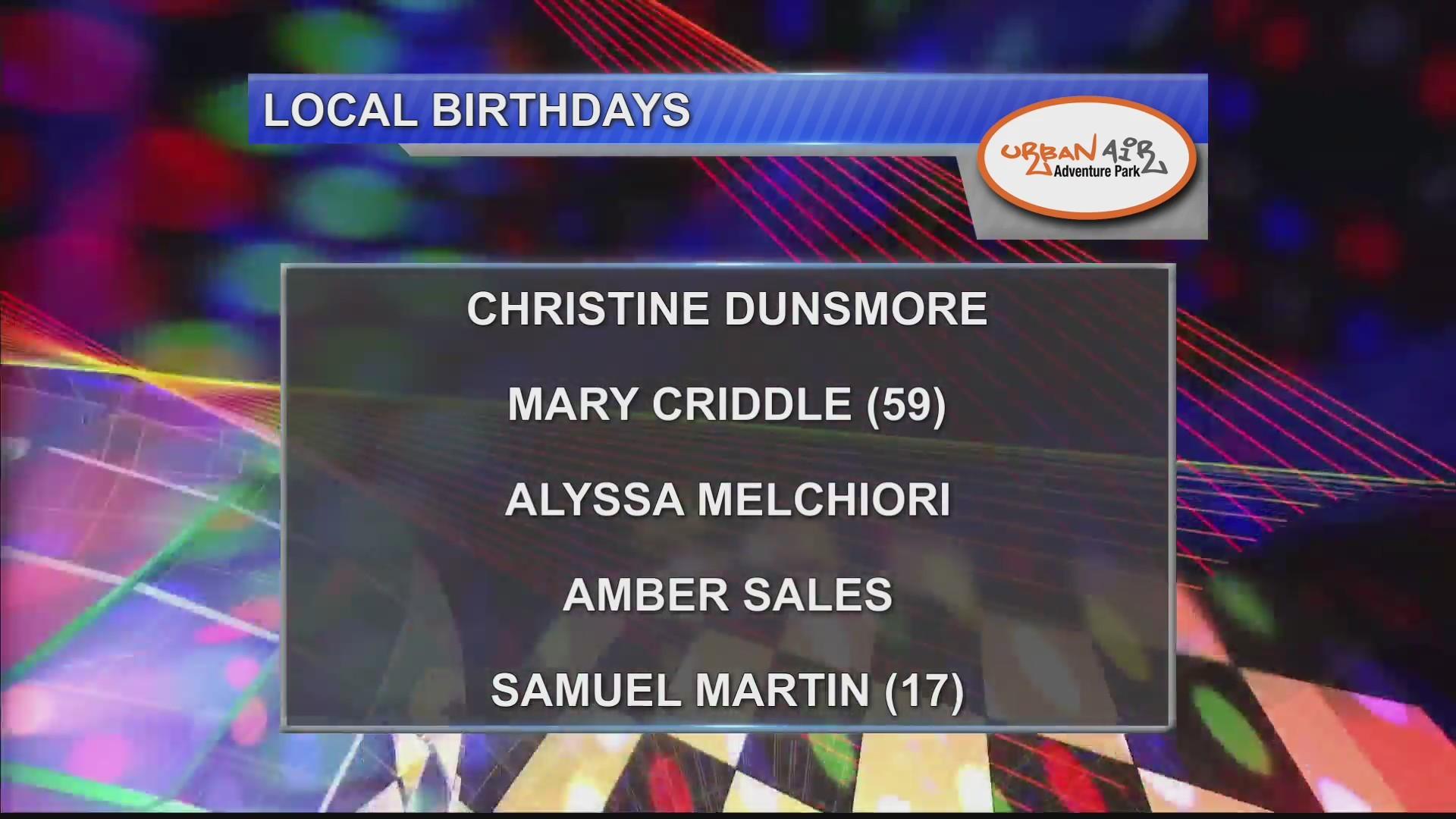 Birthdays & Anniversaries 9/21/18