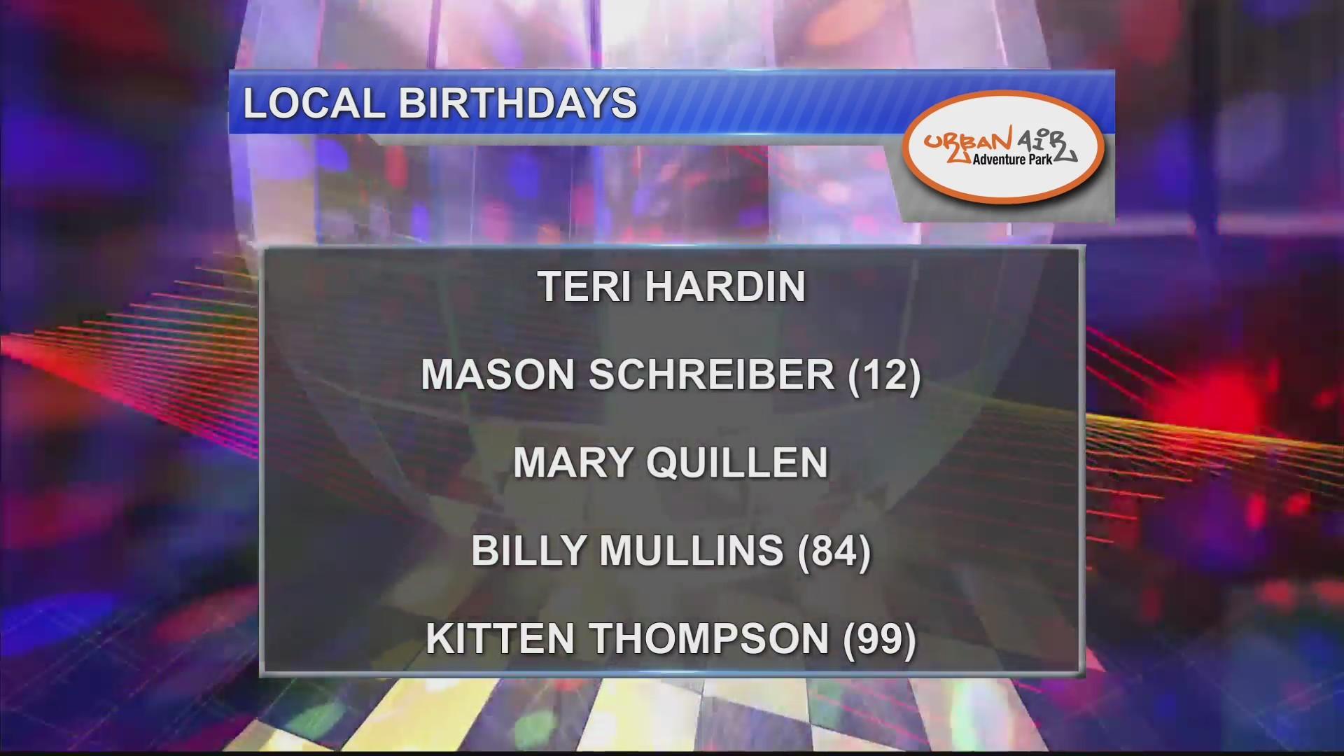 Birthdays 10/10/18