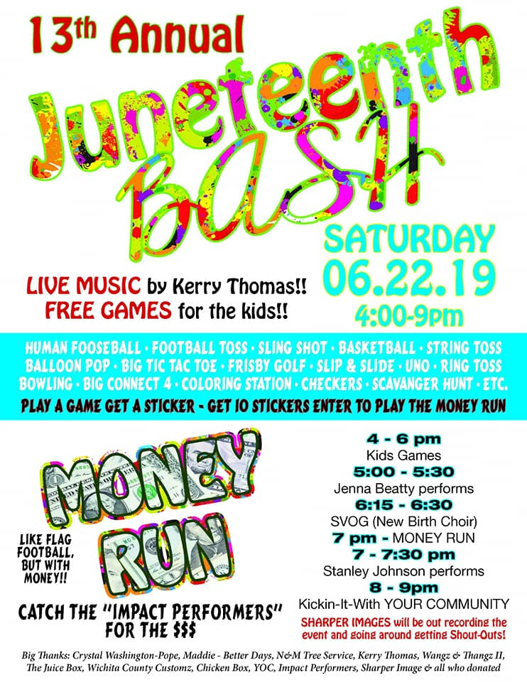 "If you're looking for some real fun this weekend, coordinators are hoping to ""bring back the love"" with the 13th annual Juneteenth bash that kicks off at 4:00 Saturday."