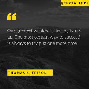 motivational say by Thomas Edison