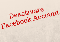 deactivate facebook account