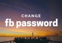 change facebook pwd